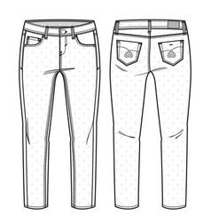 Girls pants vector