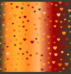 glowing chaotic heart pattern seamless background vector image