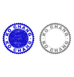 Grunge ko chang scratched watermarks vector