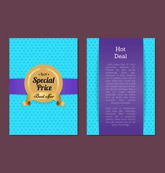 hot deal special price best offer golden label vector image