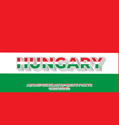 Hungary flag color text style design templates vector