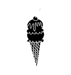ice cream cone icon image vector image