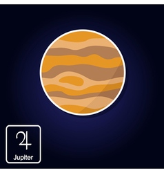 icons with Jupiter and astrology symbol of planet vector image