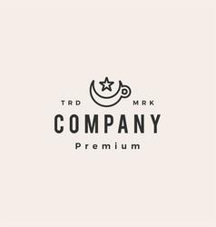 islam muslim coffee hipster vintage logo icon vector image
