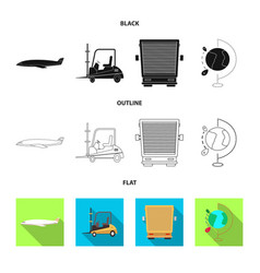 isolated object goods and cargo symbol vector image