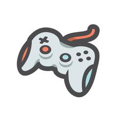 joystick game controller icon cartoon vector image
