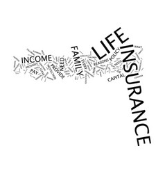 Life insurance why do i need it text background vector
