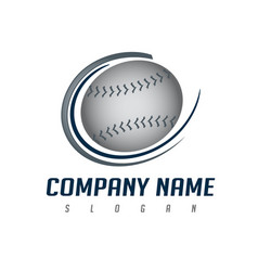 logo baseball vector image