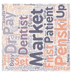 Love My Dentist text background wordcloud concept vector image vector image
