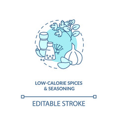 Low calorie spices and seasoning blue concept icon vector