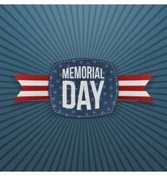 Memorial Day patriotic Emblem and Ribbon vector