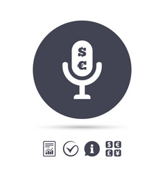 microphone icon speaker symbol paid music sign vector image