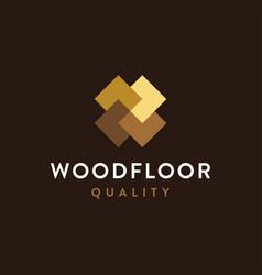 modern minimalist wood flooring logo icon vector image