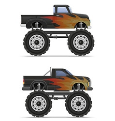 monster truck 03 vector image