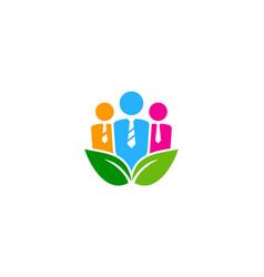 Nature job logo icon design vector