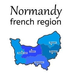 Normandy french region map vector