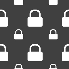 Pad Lock icon sign Seamless pattern on a gray vector