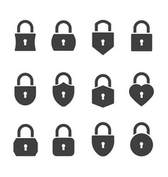 padlocks icon set vector image