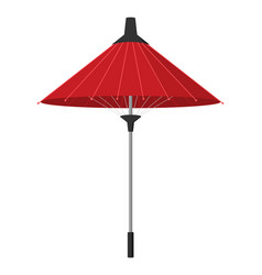 paper umbrella in asian flat design vector image