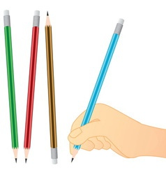 pencil writing vector image