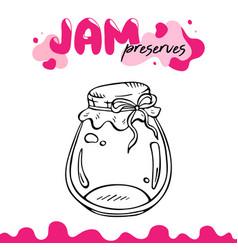 preserve clipart jam jar vector image