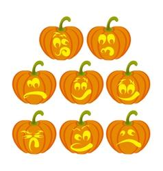 Pumpkin faces vector