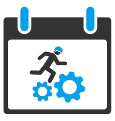 Running Worker Calendar Day Toolbar Icon vector