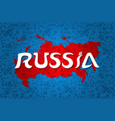 russia country map decoration background vector image
