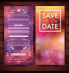 save date invitation stationery vector image