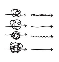scribble hard solution arrows vector image