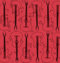 seamless pattern guitars vector image