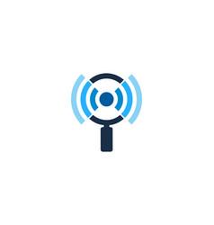 search wifi logo icon design vector image