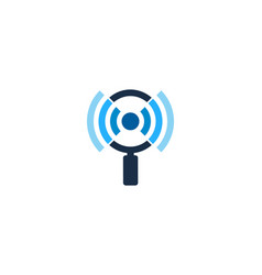 Search wifi logo icon design vector