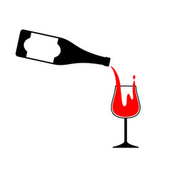 serve drink vector image