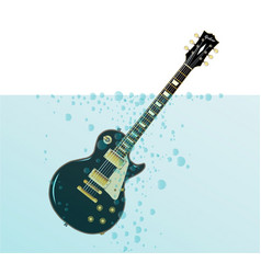 Sinking guitar vector