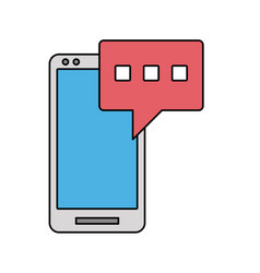 smartphone texting icon image vector image