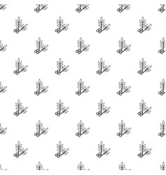 spa eco leafs pattern seamless vector image