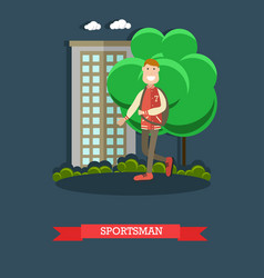 sportsman concept in flat vector image