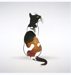 Stylized cat with spots vector