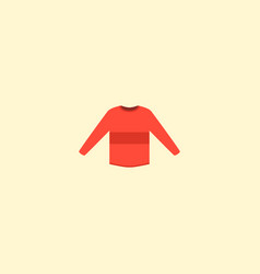 Sweater icon flat element of vector