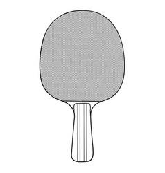 table tennis racket hand drawn vector image