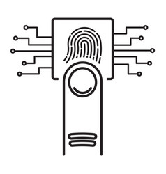 Touch fingerprint scan icon biometrics concept vector