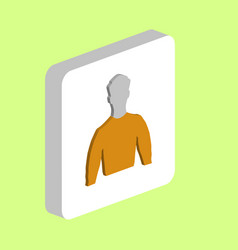 unknown male avatar computer symbol vector image