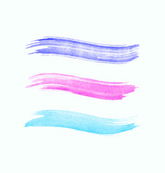 Watercolor stroke isolated on white background vector