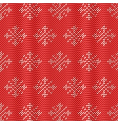 Winter knitted cards and templates vector image