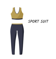 Women tight-fitting sport suit simple vector