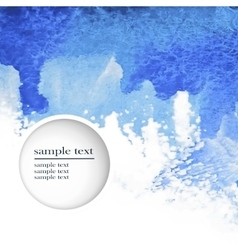 abstract watercolor blue background vector image vector image