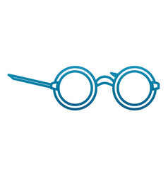 glasses with round frame vector image