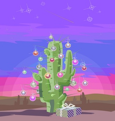 New Year cactus V vector image