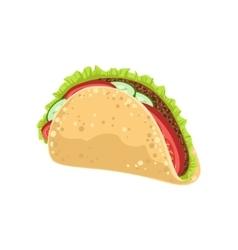 Taco Street Food Menu Item Realistic Detailed vector image
